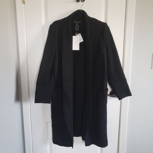 ZARA TRF Black Wool Coat
